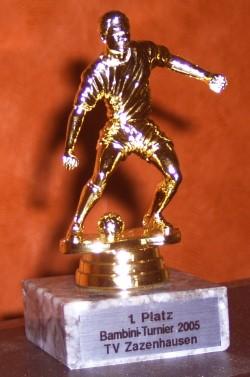 Pokal vom Turniersieg am 25.06.2005