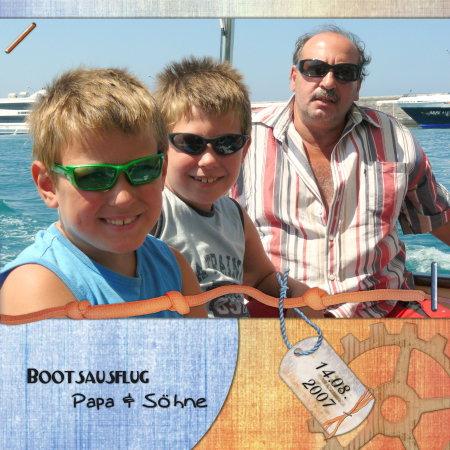 Bootsausflug Papa + Söhne