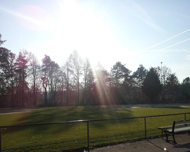 Herbstfoto Fußballplatz